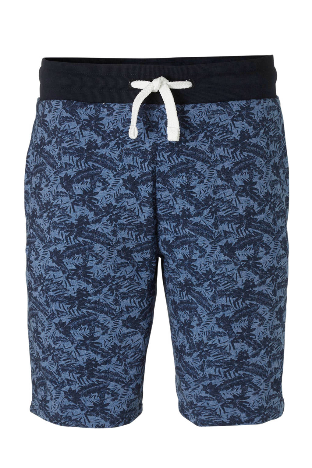 C&A XL Angelo Litrico sweatshort met all over print, Donkerblauw