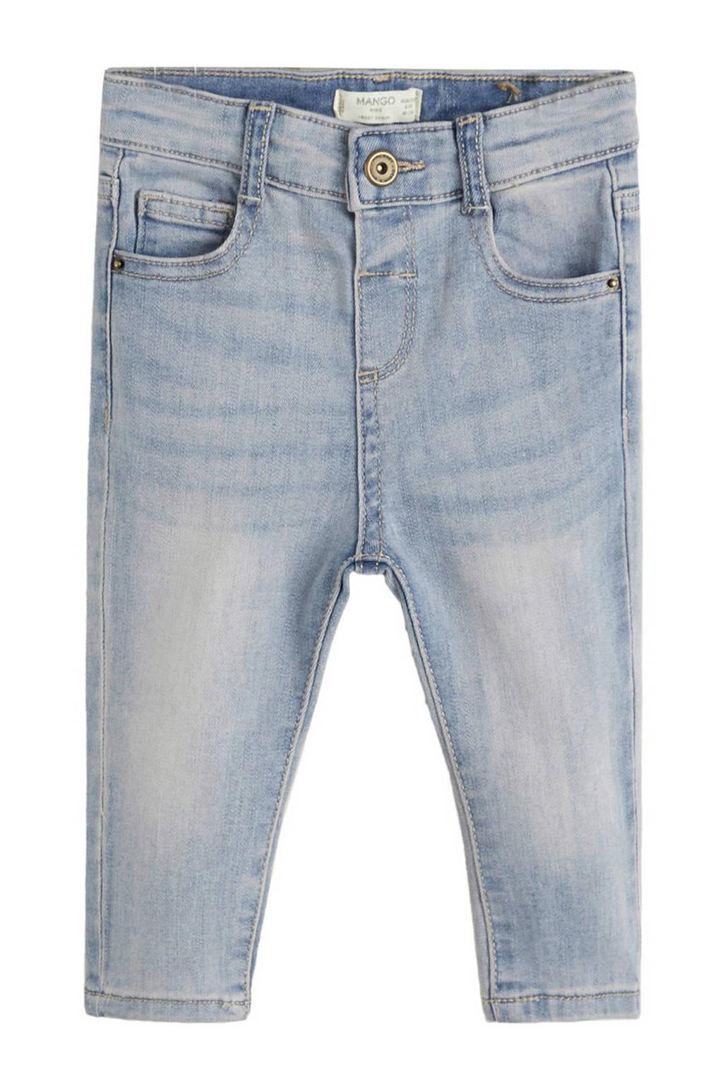 Mango Kids high waist skinny jeans, changeant blauw