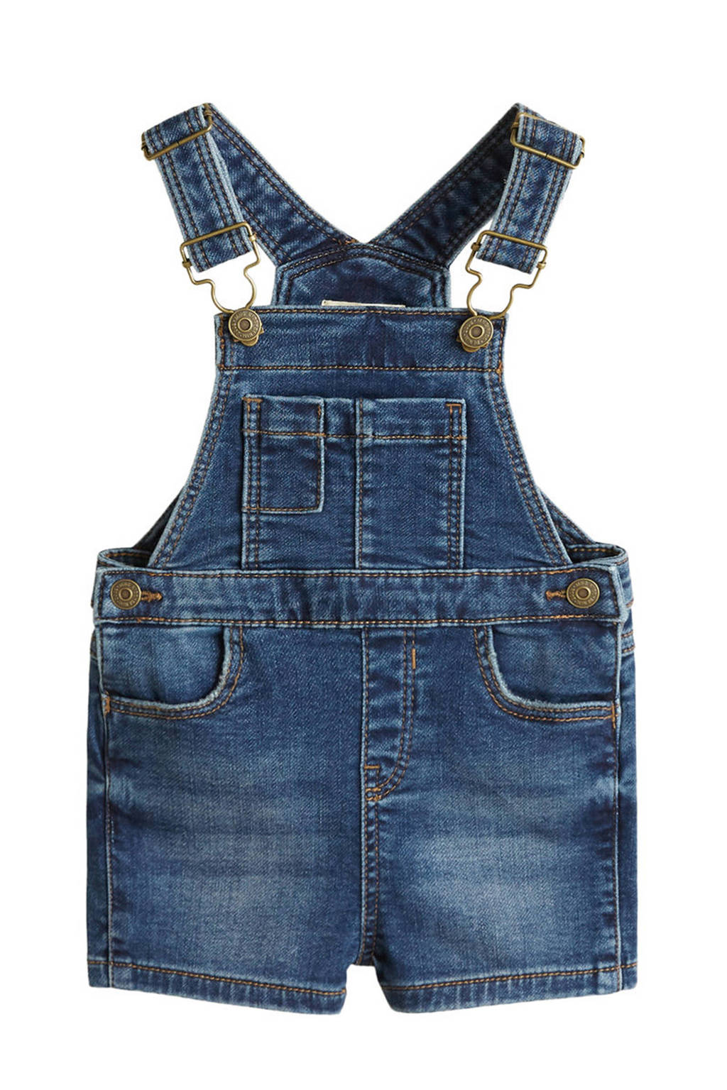 Mango Kids tuinbroek dark denim, Dark denim