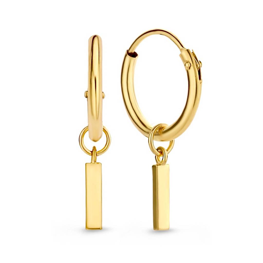 Isabel Bernard 14 karaat gouden oorbellen - IB0301194., Goudkleurig