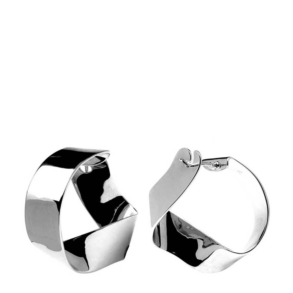 P D Paola Zilveren Gravity Oorbellen AR02-055-U, Zilverkleurig