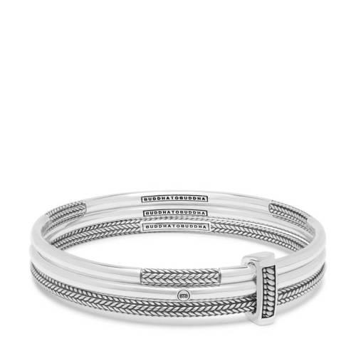 Buddha to Buddha 319 Armband Dunia Kasma Set zilver Maat S (15-17 cm)