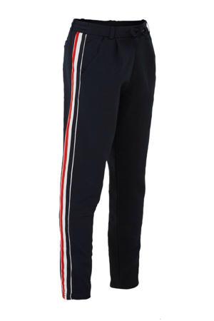 joggingbroek Jowose met zijstreep donkerblauw/wit/rood