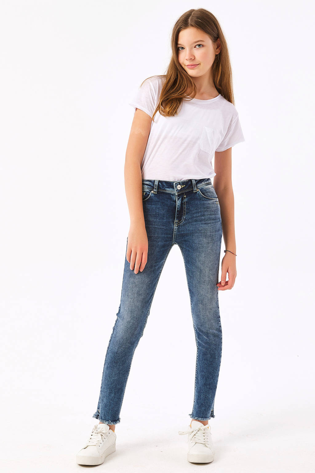LTB skinny ankle fit jeans Georget blauw, Blauw (Luty wash)