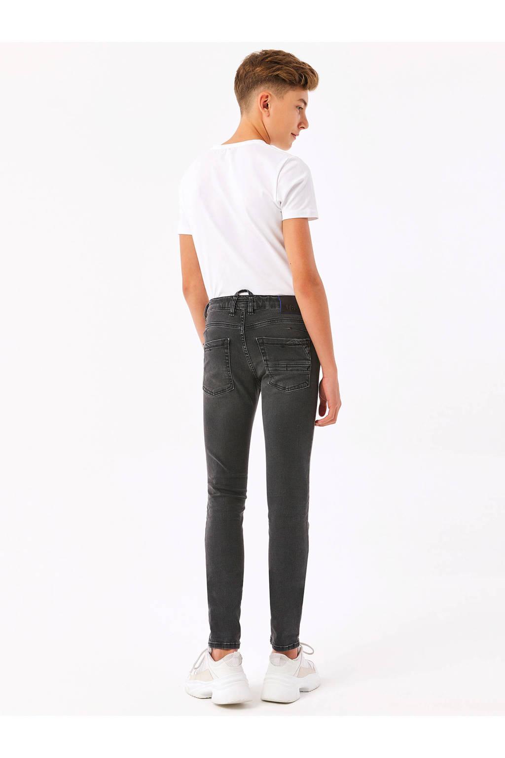 LTB skinny jeans met slijtage zwart, Zwart
