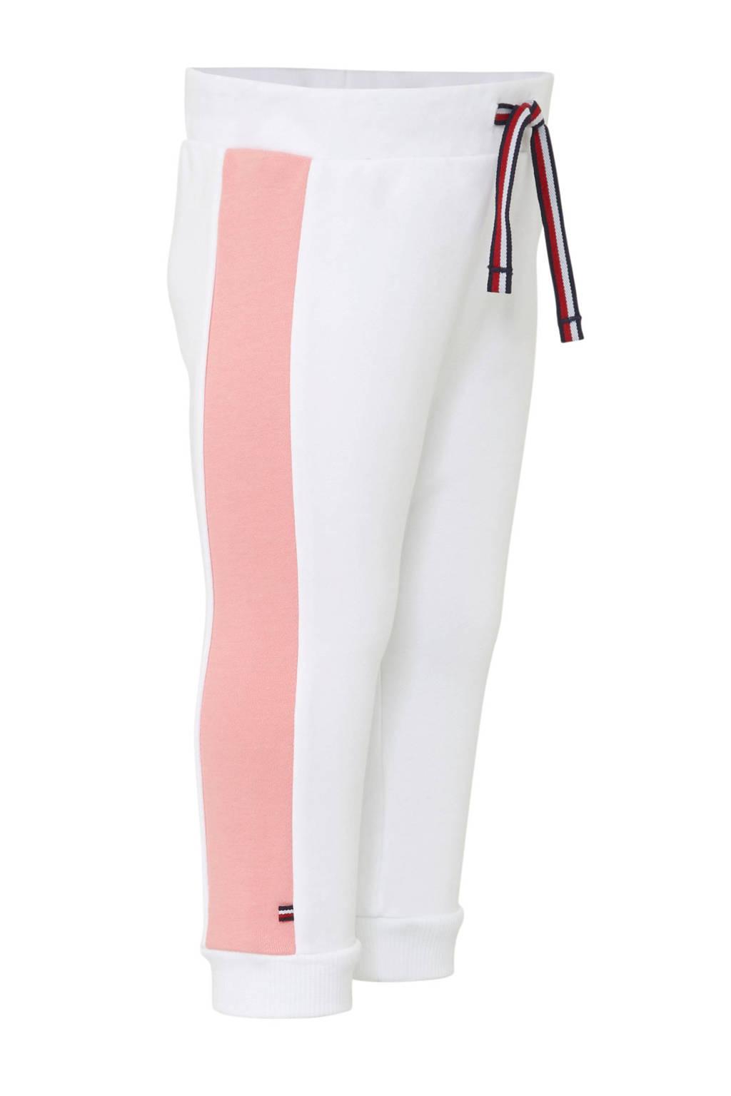 Tommy Hilfiger   sweatpants met zijbies wit, Wit