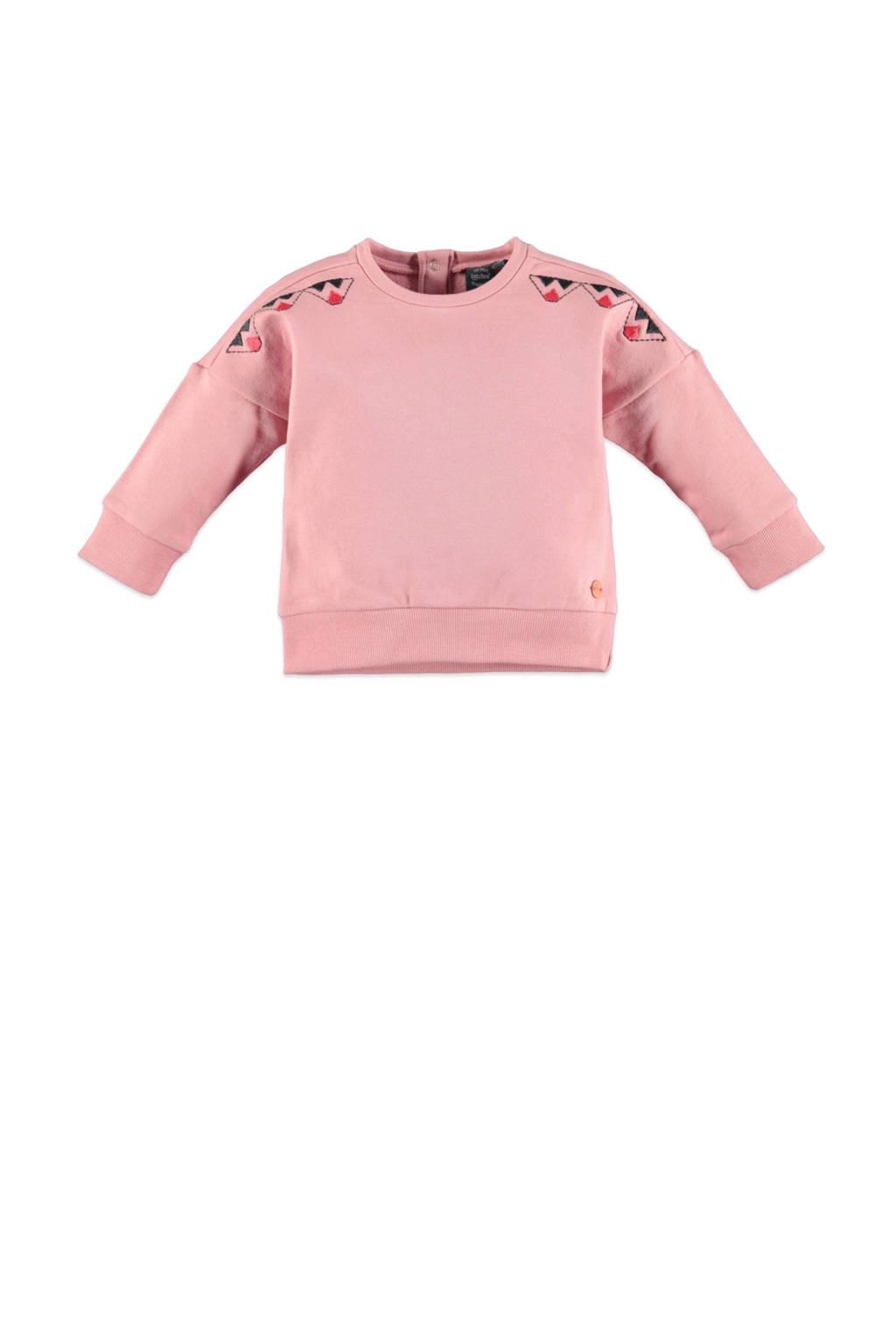 Babyface longsleeve met printopdruk roze, Roze