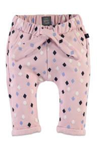 Babyface joggingbroek met all over print roze/zwart/wit/paars, Roze/zwart/wit/paars