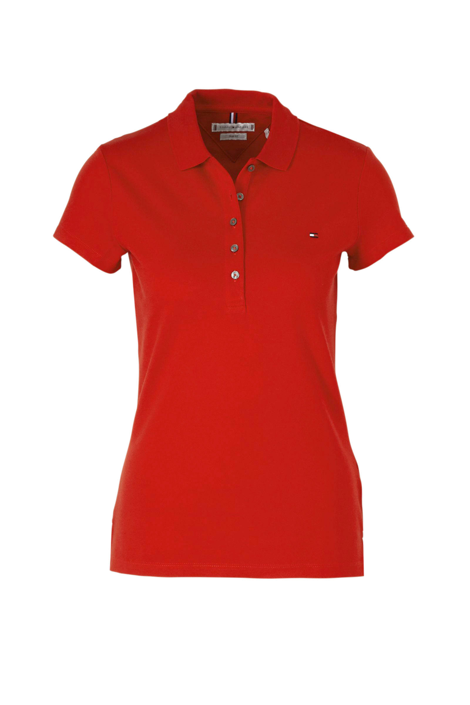 polo slim fit rood