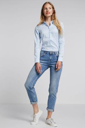 slim fit blouse blauw