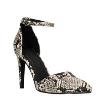 Sacha   pumps slangenprint, Zwart/wit