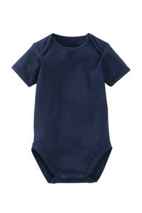 HEMA newborn baby romper, Donkerblauw, Korte mouw