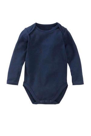 newborn baby romper donkerblauw