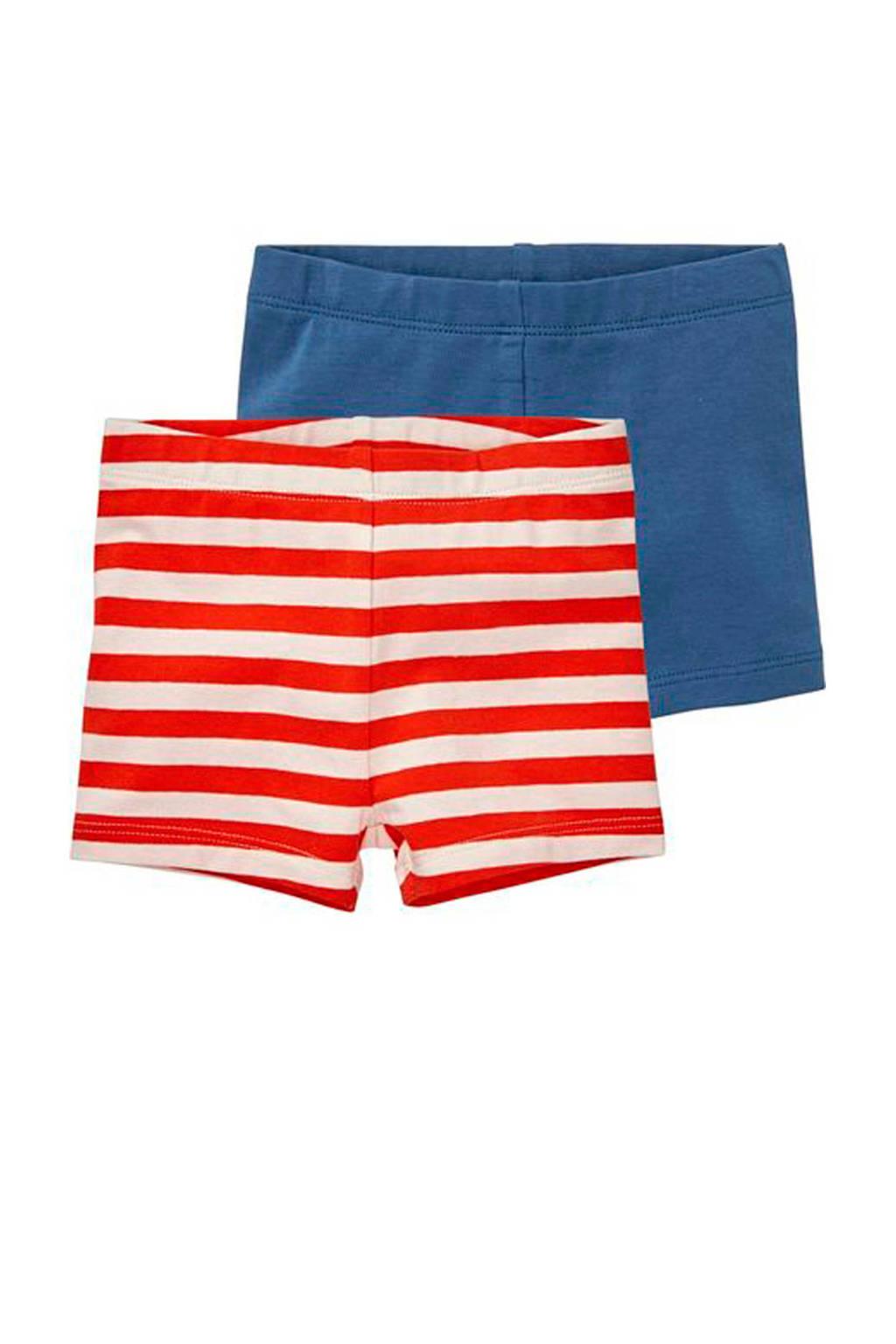 HEMA gestreepte legging rood/wit/blauw - set van 2, Rood/wit/blauw