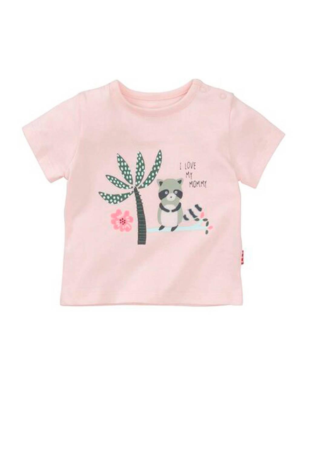 HEMA T-shirt met printopdruk lichtroze, Lichtroze