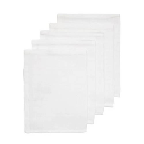 HEMA hydrofiele washandjes wit - set van 5