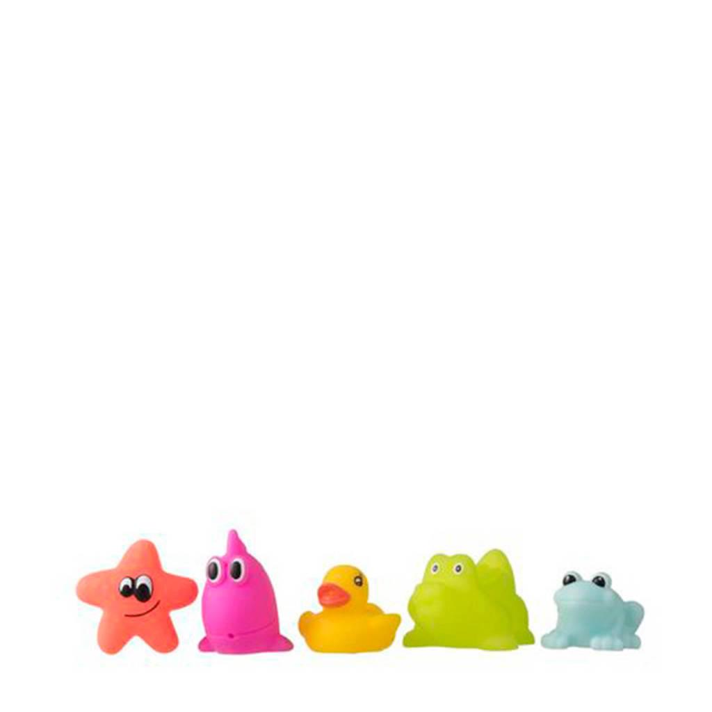 HEMA badspeeltjes, Roze/geel/groen/blauw