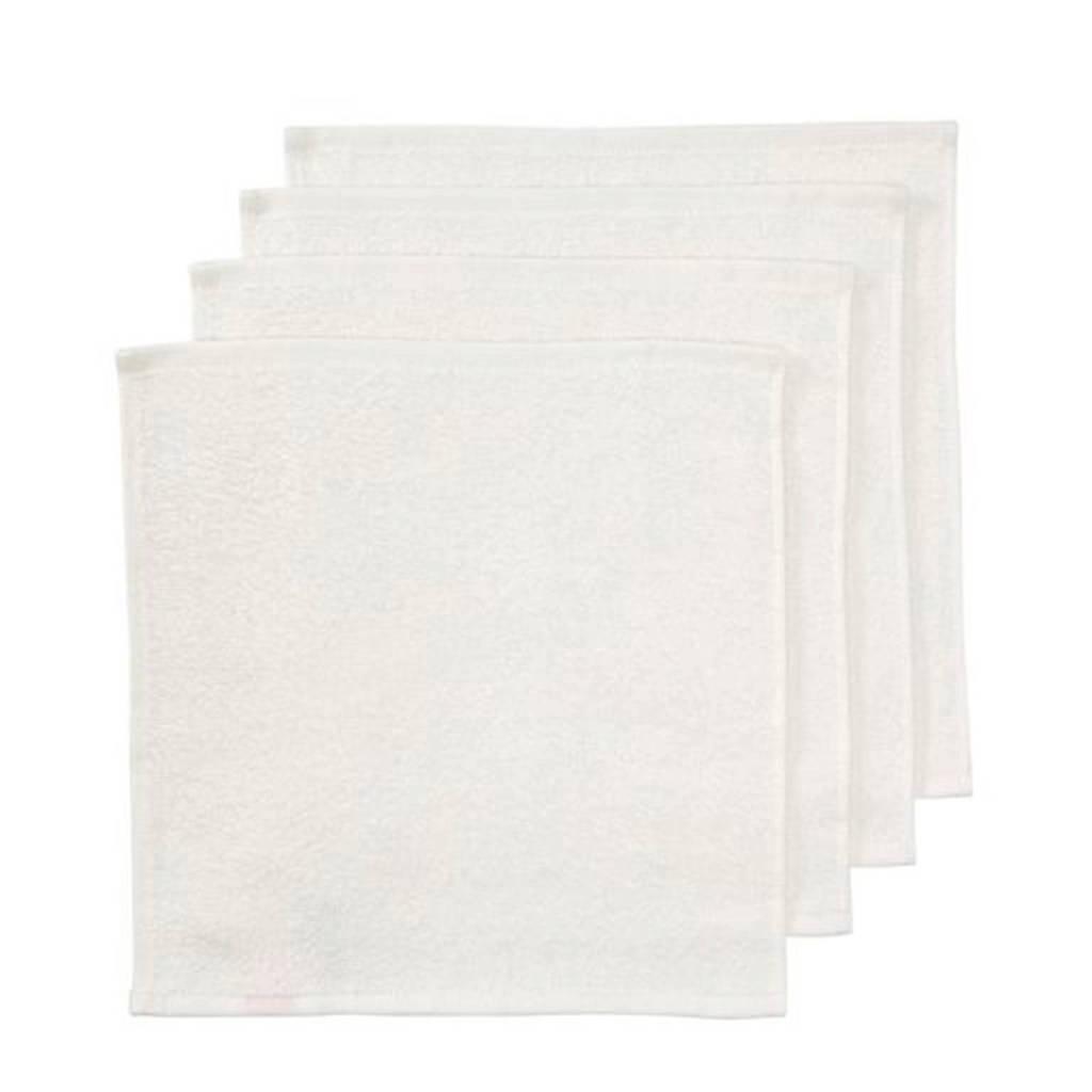 HEMA badstof monddoekje wit - set van 4, Wit