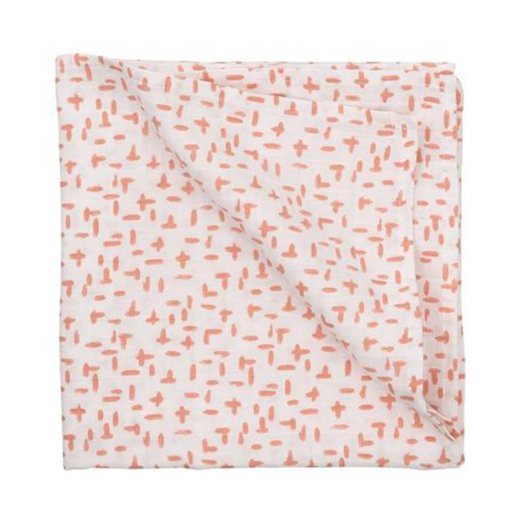 HEMA hydrofiele doek 110 x 110 cm roze, Roze