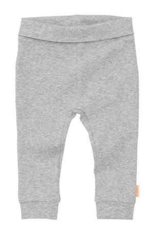 broek met textuur grijs melange