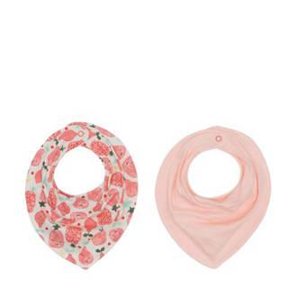 bandana slab roze/print - set van 2