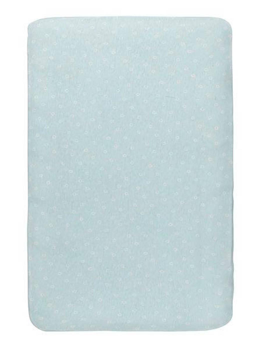 HEMA katoenen ledikanthoeslaken 60x120 cm stip Blauw