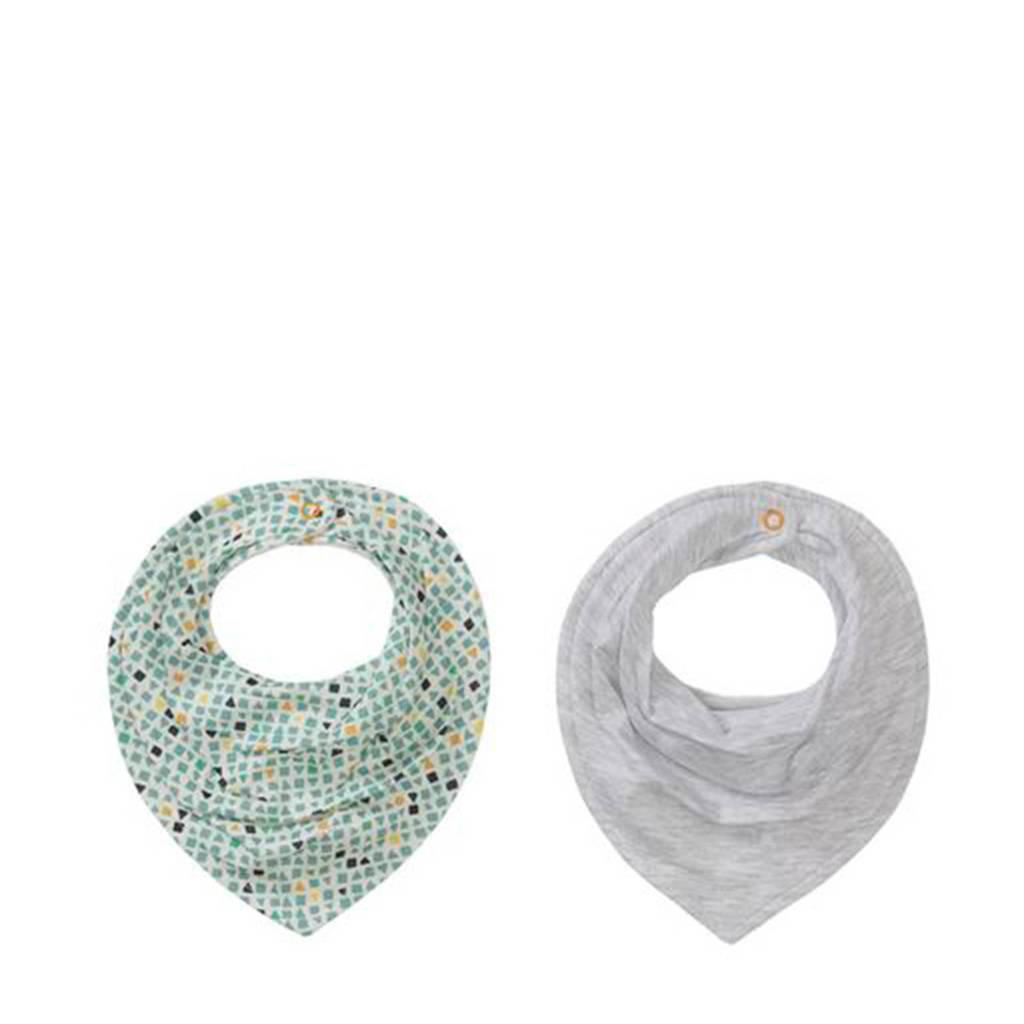 HEMA bandana slab grijs/groen - set van 2, Grijs/groen
