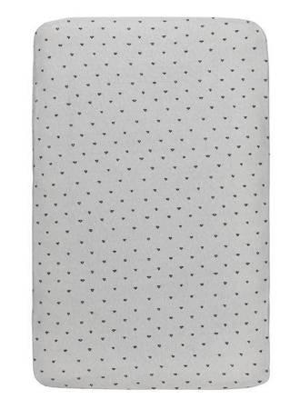 katoenen ledikanthoeslaken 60x120 cm driehoek Grijs