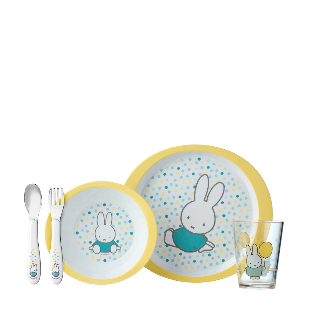 Mepal kinderservies set - Nijntje Confetti (5-delig), Multi