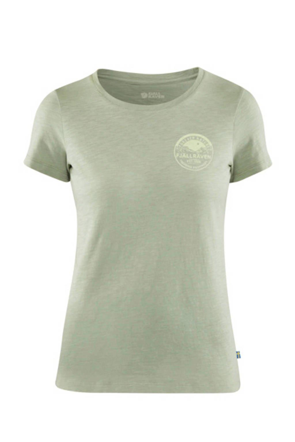 Fjällräven T-shirt Forever Nature groen, Sage Green
