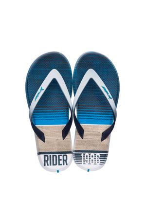 R1 Energy teenslippers wit/blauw