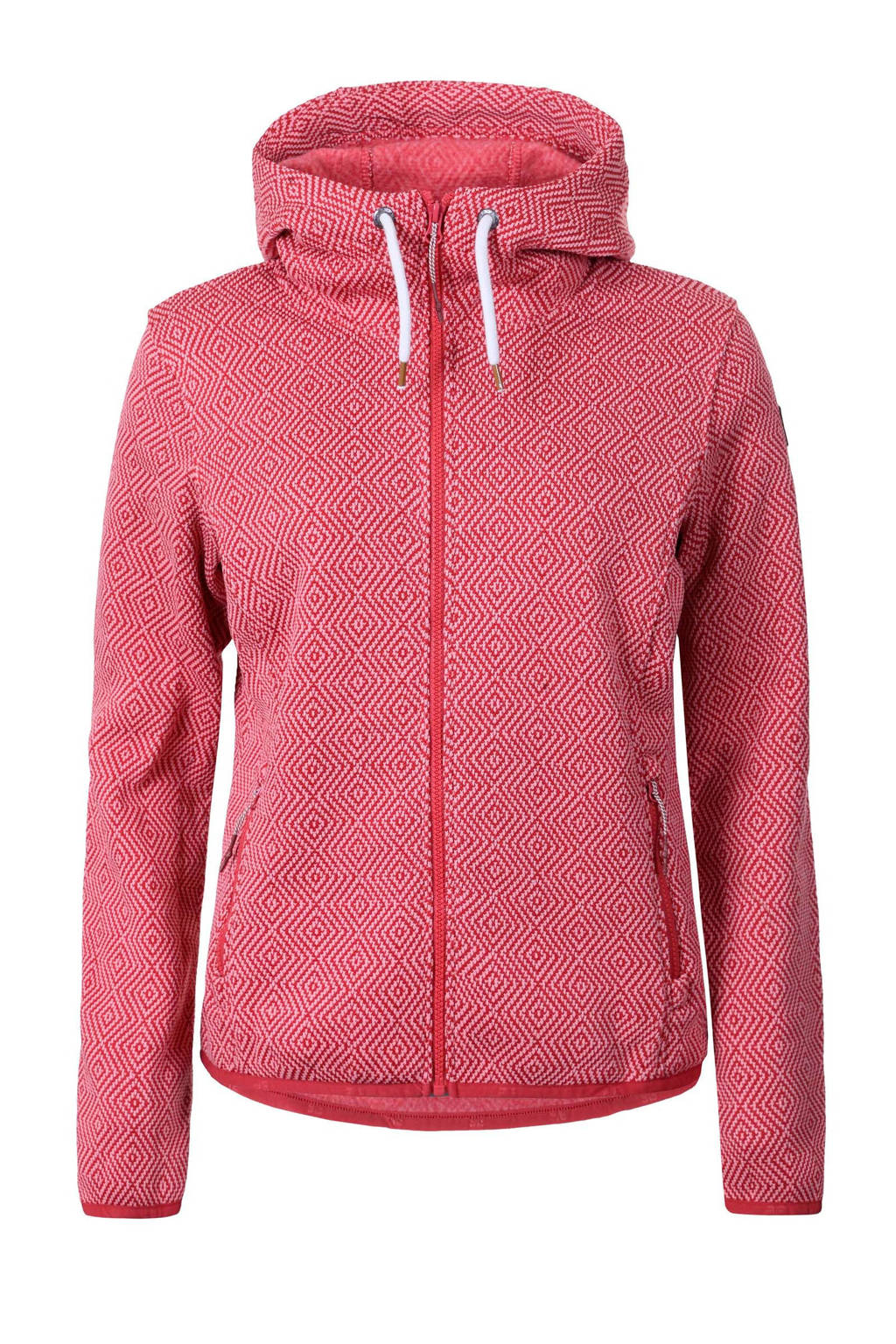 Icepeak outdoor fleecevest Lotte rood/wit, Rood/wit