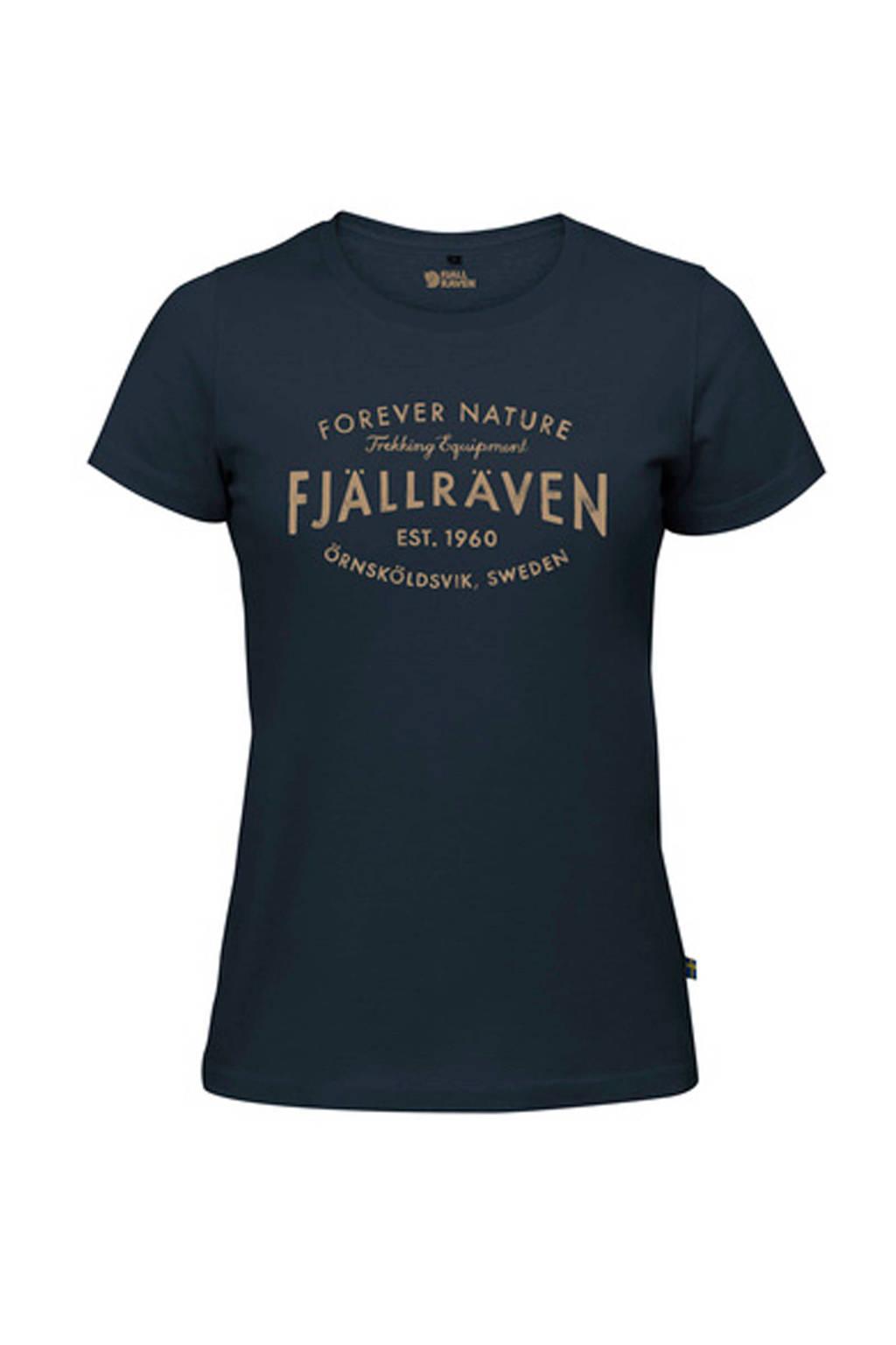 Fjällräven T-shirt donkerblauw, donekrblauw