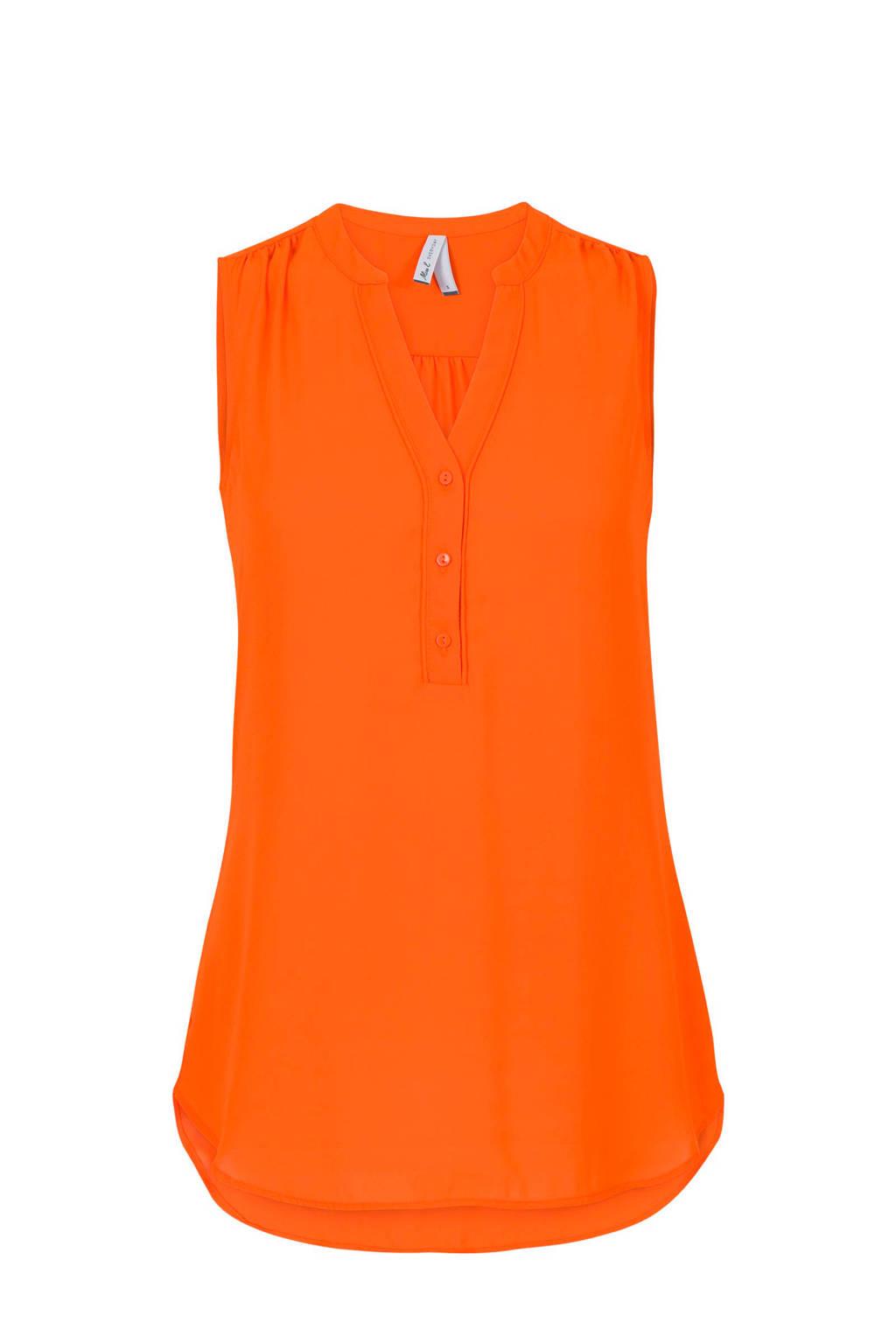 Miss Etam Regulier mouwloze top oranje, Oranje