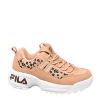 Fila   chunky sneakers met panterprint, Beige/zwart