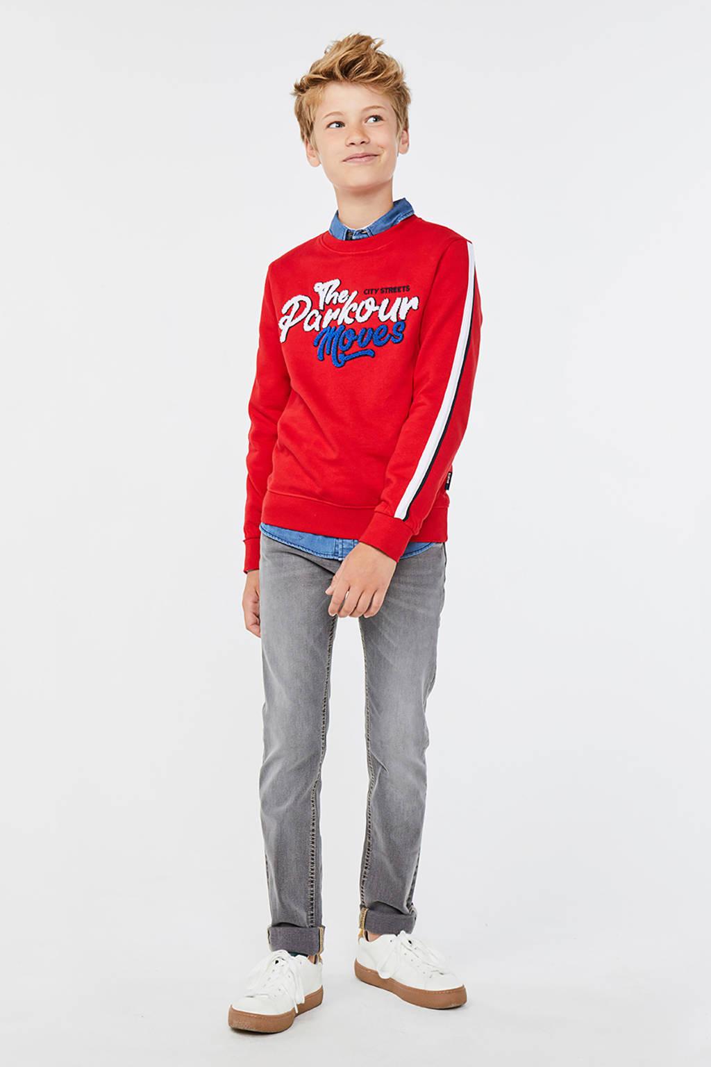 WE Fashion sweater met logo rood, Rood