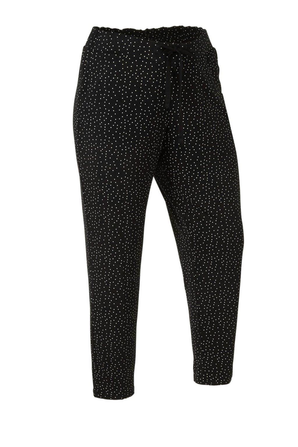 C&A XL Yessica palazzo broek met stippen zwart/wit, Zwart/wit