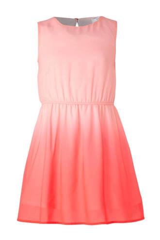 Here & There jurk met dip-dye print roze