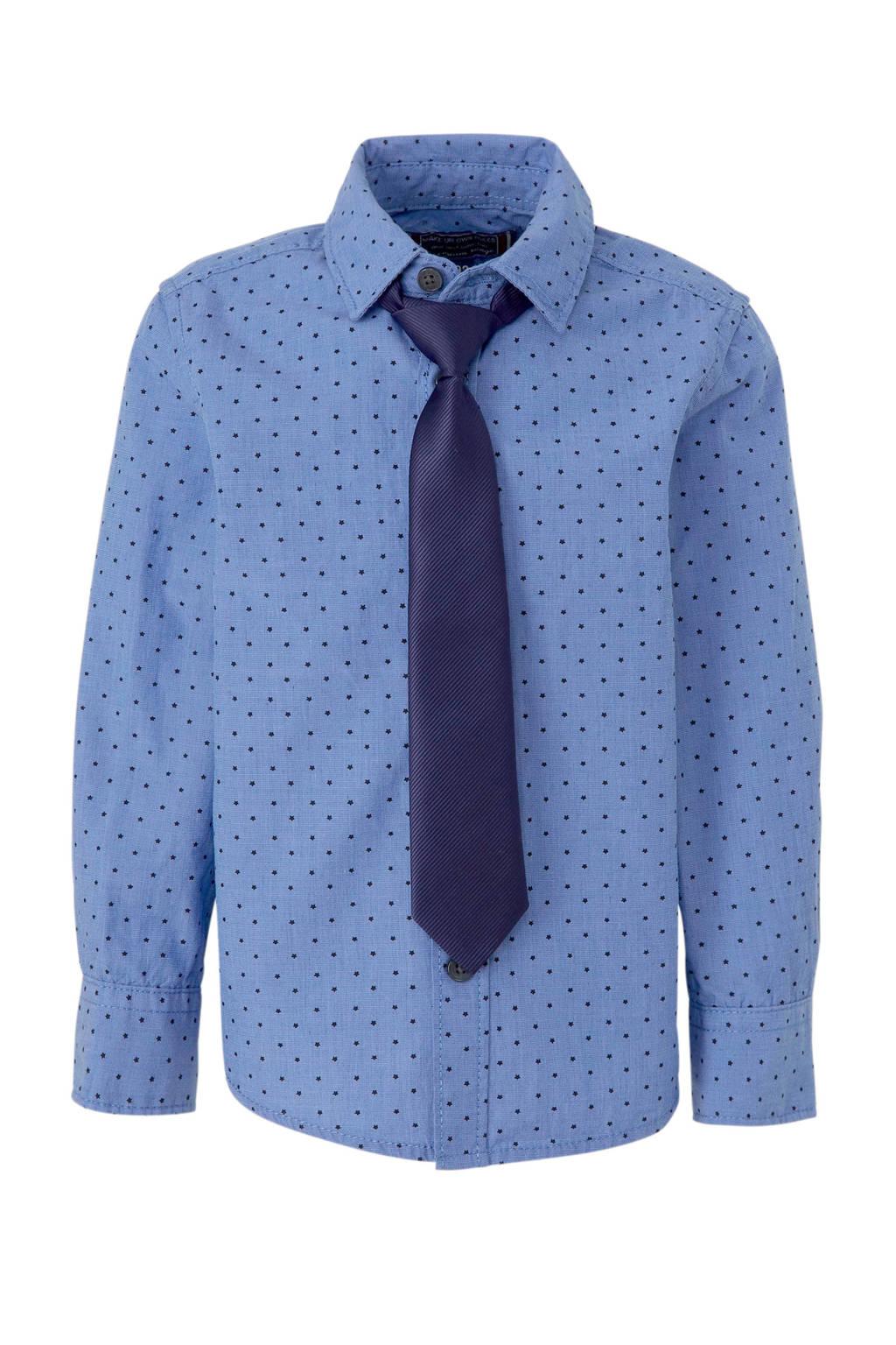 C&A Palomino overhemd met sterren blauw, Blauw