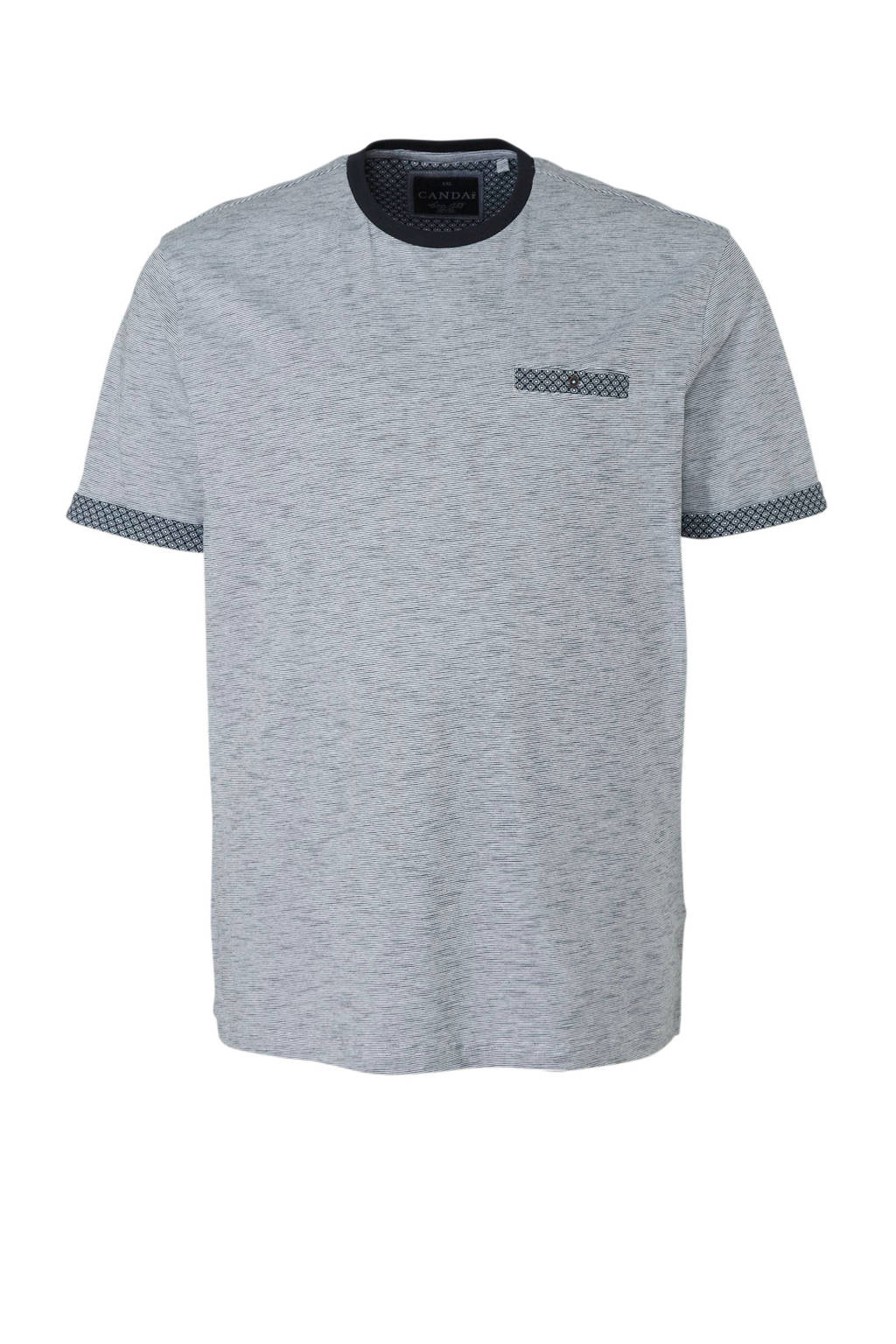 C&A XL Canda T-shirt gestreept, Blauw/wit