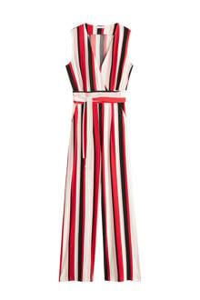 gestreepte jumpsuit rood/wit/zwart