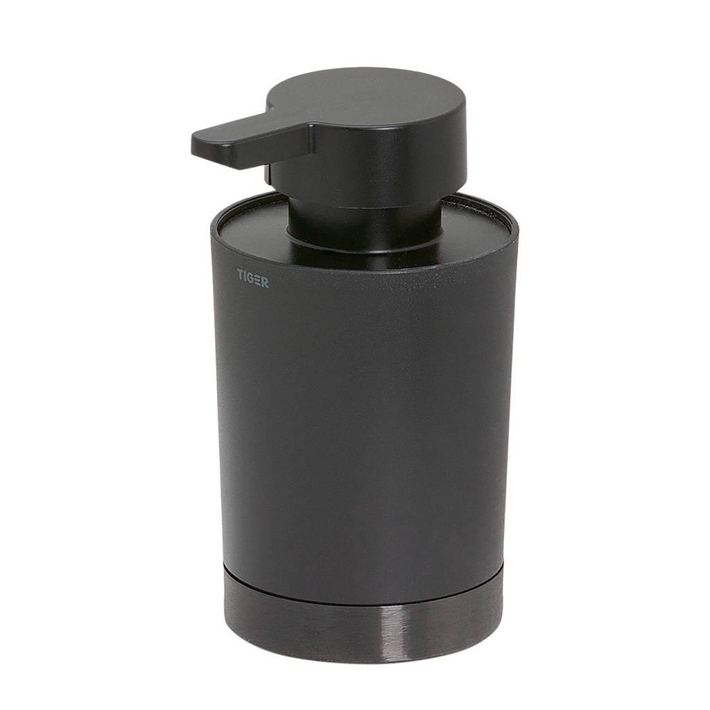 Tiger Tune zeepdispenser (68x12.4 cm), Zwart metaal geborsteld / Zwart