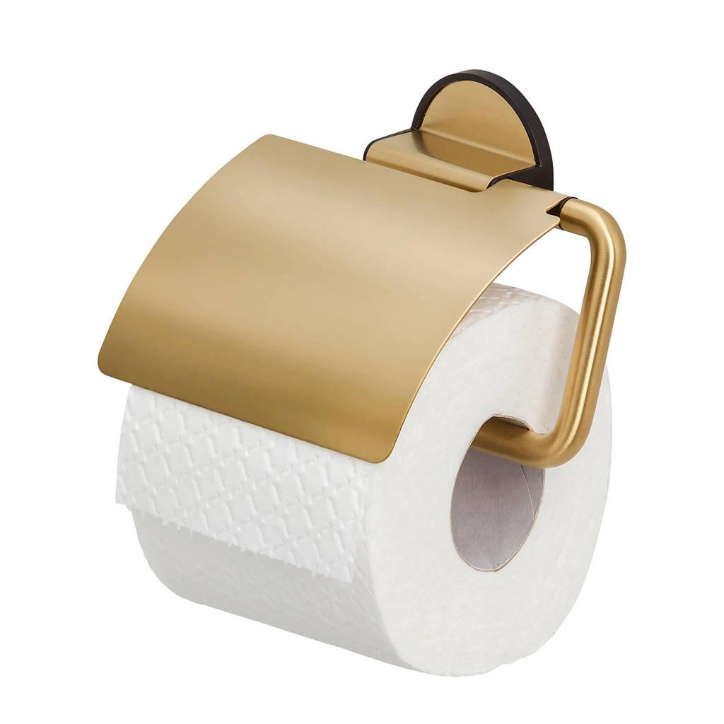 Tiger Tune toiletrolhouder, Messing geborsteld / Zwart