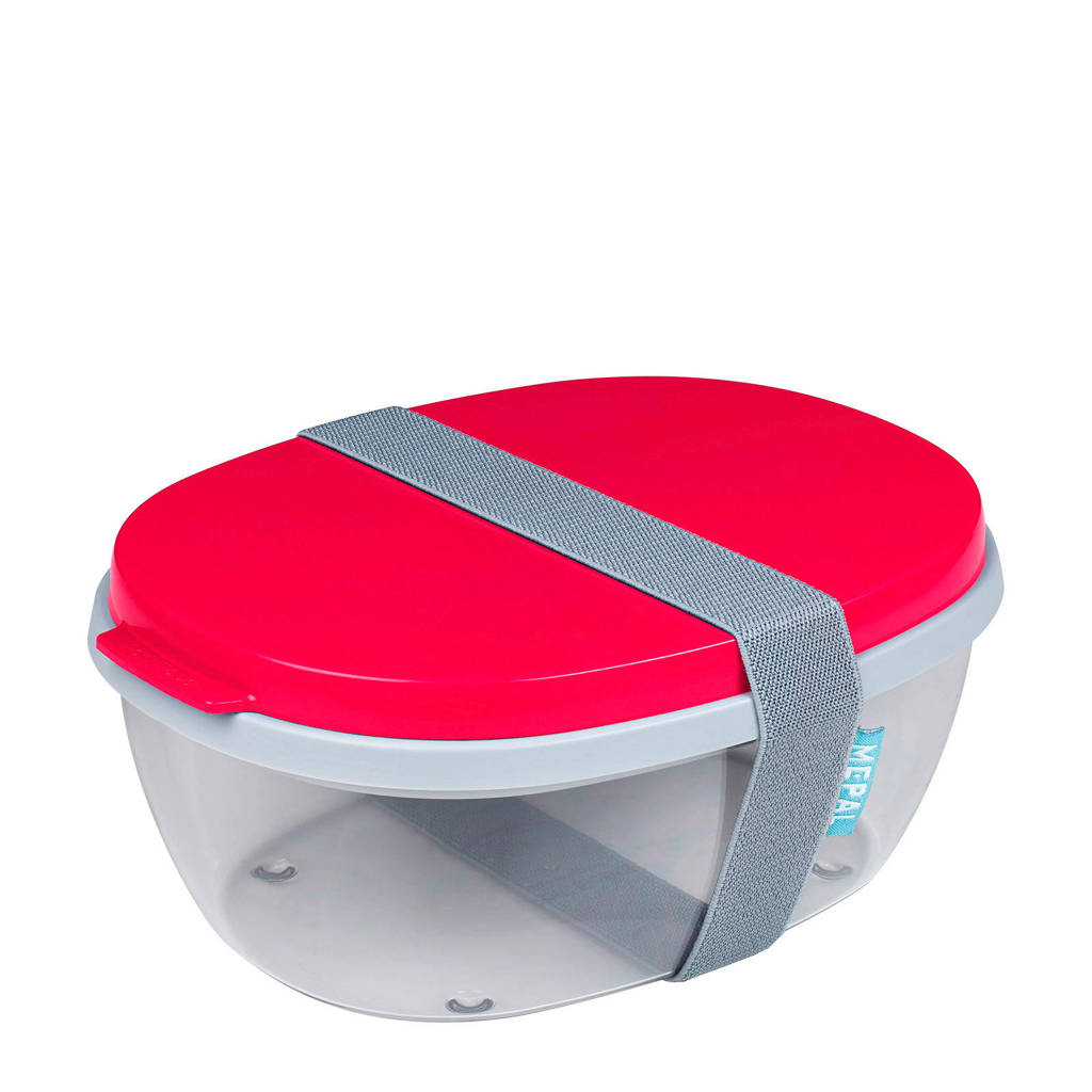 Mepal Ellipse saladebox (3-delig), Rood