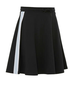 rok met contrastbies zwart/ wit/ lichtblauw