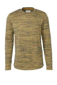 No Excess gemêleerd T-shirt oker/groen, Oker/groen