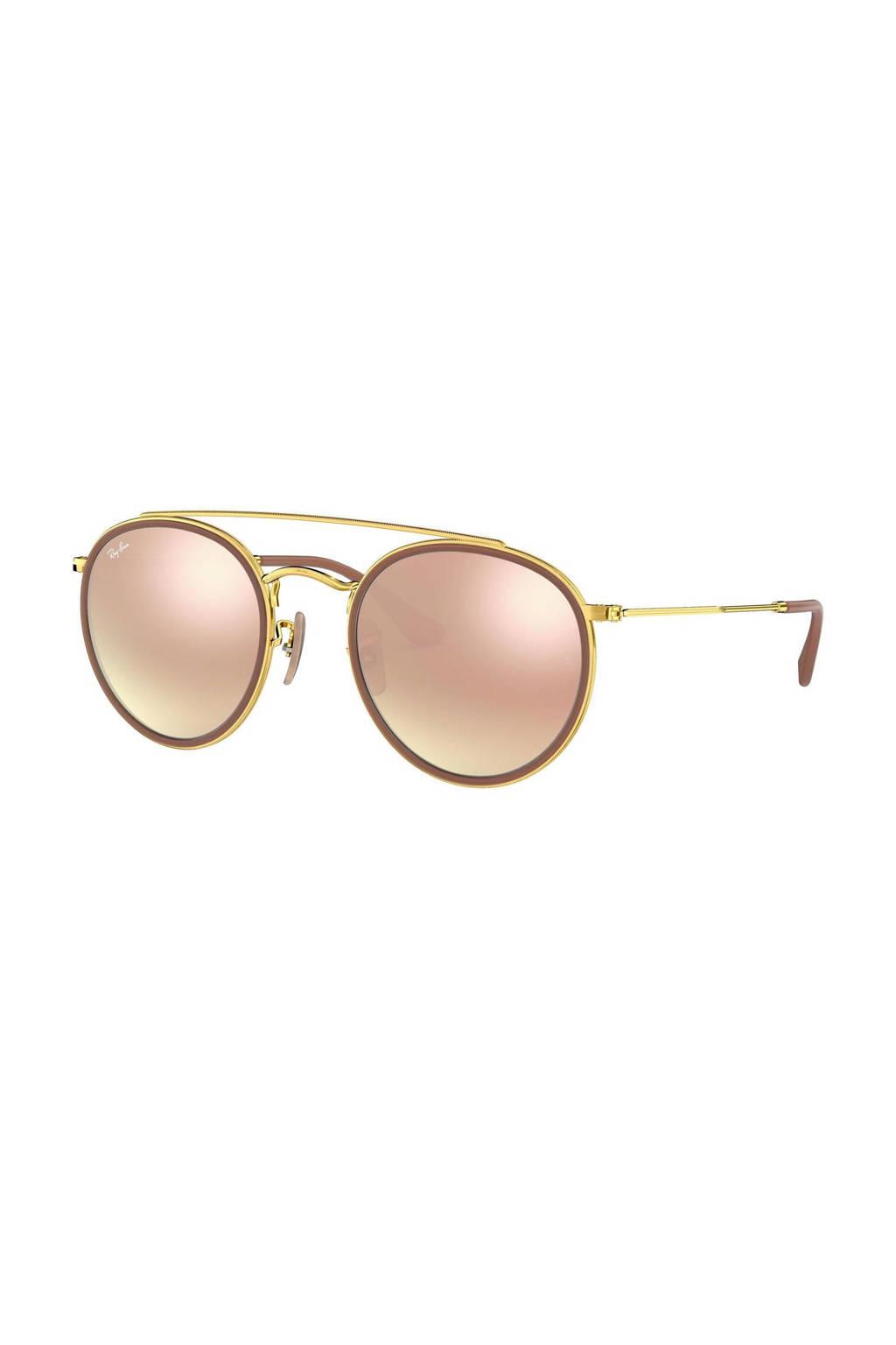 Ray-Ban zonnebril 0RB3647N goud/roze, Bruin/roze