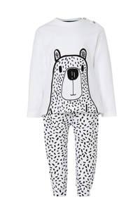 whkmp's own beasty   newborn baby pyjama, Wit/zwart