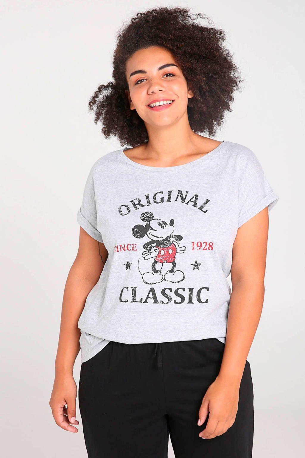Paprika pyjamatop Mickey Mouse grijs, Grijs