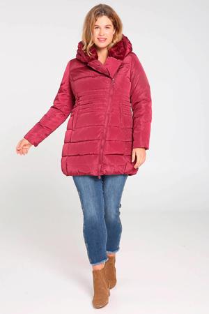 winterjas roodroze